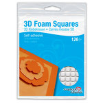3L Scrapbook Adhesives - 3D Foam Squares - 126 each