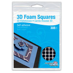 3L Scrapbook Adhesives - 3D Small Foam Squares - Black