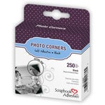 3L Scrapbook Adhesives - Photo Corners - Black (250 per box)