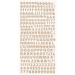 Kaisercraft - Alphabet Stickers - Natural