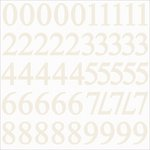 Kaisercraft - Alphabet Stickers - Number - Ivory