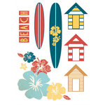 Kaisercraft - Seaside Collection - Printed Chipboard