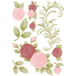 Kaisercraft - English Rose Collection - Printed Chipboard