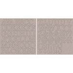Kaisercraft - 12 x 12 Chipboard Alphabet - Uppercase