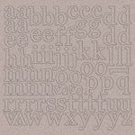Kaisercraft - 12 x 12 Chipboard Alphabet - Lowercase