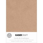 Kaisercraft - Card and Envelopes - C6 - Kraft