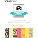 Kaisercraft - Captured Moments Collection - 3 x 4 Cards - Say Cheese