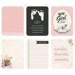 Kaisercraft - Captured Moments Collection - 3 x 4 Cards - Rock a Bye Baby Girl