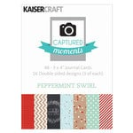 Kaisercraft - Captured Moments Collection - Christmas - 3 x 4 Double Sided Cards - Peppermint Swirl