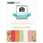Kaisercraft - Captured Moments Collection - 3 x 4 Double Sided Journal Cards - Pineapple Crush