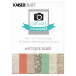 Kaisercraft - Captured Moments Collection - 3 x 4 Cards - Antique Bliss