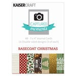 Kaisercraft - Captured Moments Collection - 3 x 4 Double Sided Journal Cards - Basecoat Christmas