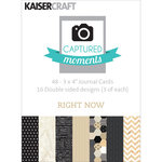 Kaisercraft - Captured Moments Collection - 3 x 4 Double Sided Journal Cards - Right Now
