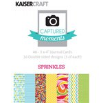 Kaisercraft - Captured Moments Collection - 3 x 4 Double Sided Journal Cards - Sprinkles