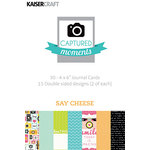 Kaisercraft - Captured Moments Collection - 4 x 6 Cards - Say Cheese