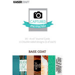 Kaisercraft - Captured Moments Collection - 4 x 6 Cards - Basecoat
