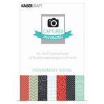 Kaisercraft - Captured Moments Collection - Christmas - 4 x 6 Double Sided Journal Cards - Peppermint Swirl