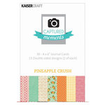 Kaisercraft - Captured Moments Collection - 4 x 6 Double Sided Journal Cards - Pineapple Crush