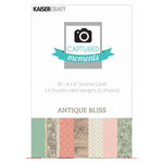 Kaisercraft - Captured Moments Collection - 4 x 6 Double Sided Journal Cards - Antique Bliss