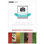 Kaisercraft - Captured Moments Collection - 4 x 6 Double Sided Journal Cards - Basecoat Christmas