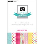 Kaisercraft - Captured Moments Collection - 4 x 6 Double Sided Journal Cards - Sprinkles
