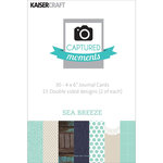 Kaisercraft - Captured Moments Collection - 4 x 6 Double Sided Journal Cards - Sea Breeze