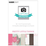 Kaisercraft - Captured Moments Collection - 4 x 6 Double Sided Journal Cards - Pretty Little Things