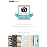 Kaisercraft - Captured Moments Collection - 4 x 6 Double Sided Journal Cards - Necessities