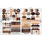 Kaisercraft - Captured Moments Collection - Pocket Stickers - Natural