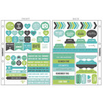 Kaisercraft - Captured Moments Collection - Pocket Stickers - Sea Breeze