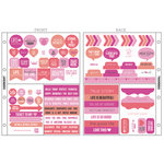 Kaisercraft - Captured Moments Collection - Pocket Stickers - Raspberry