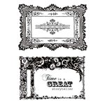 Kaisercraft - Miss Empire Collection - Clear Acrylic Stamp - Frames