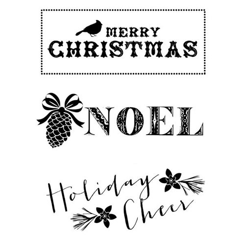 Kaisercraft - Holly Bright Collection - Christmas - Clear Acrylic Stamp - Noel