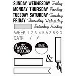 Kaisercraft - Captured Moments Collection - Clear Acrylic Stamps - Weekdays
