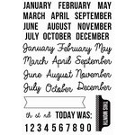 Kaisercraft - Captured Moments Collection - Clear Acrylic Stamps - Months