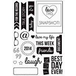 Kaisercraft - Captured Moments Collection - Clear Acrylic Stamps - Polaroid