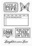 Kaisercraft - Rustic Harmony Collection - Clear Acrylic Stamp