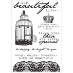 Kaisercraft - Oh So Lovely Collection - Clear Acrylic Stamps