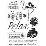 Kaisercraft - Say Aloha Collection - Clear Acrylic Stamps