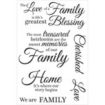 Kaisercraft - Generations Collection - Clear Acrylic Stamps