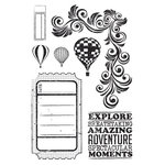 Kaisercraft - Up, Up and Away Collection - Clear Acrylic Stamps