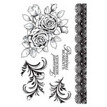 Kaisercraft - English Rose Collection - Clear Acrylic Stamps