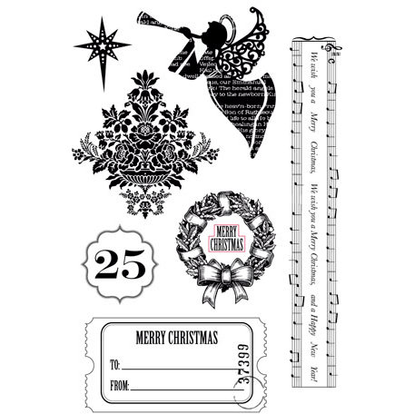 Kaisercraft - December 25th Collection - Christmas - Clear Acrylic Stamps