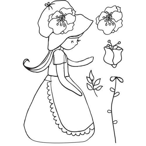 Kaisercraft - Lil' Primrose Collection - Clear Acrylic Stamp - Garden Party