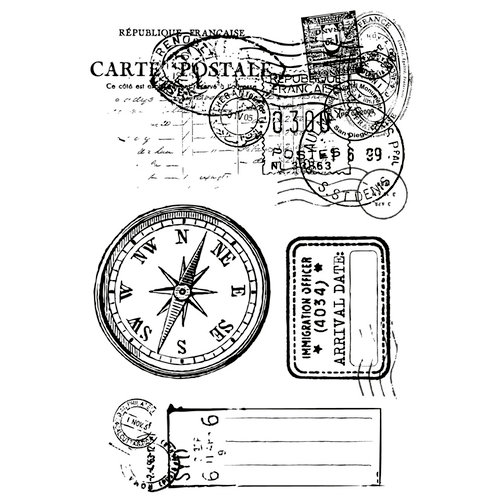Kaisercraft - Check-in Collection - Clear Acrylic Stamp