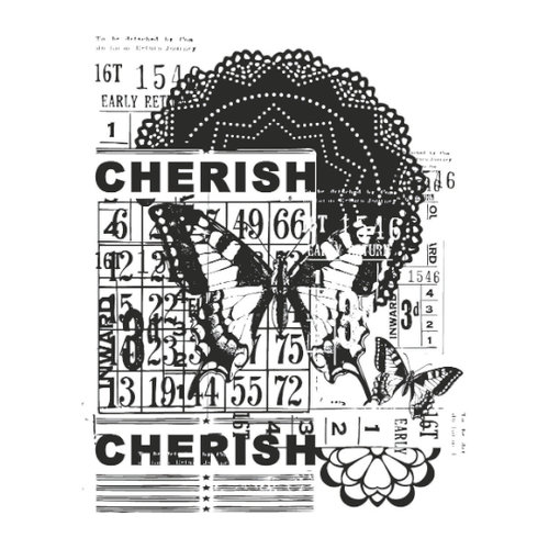 Kaisercraft - Vintage - Clear Acrylic Stamp - Cherish
