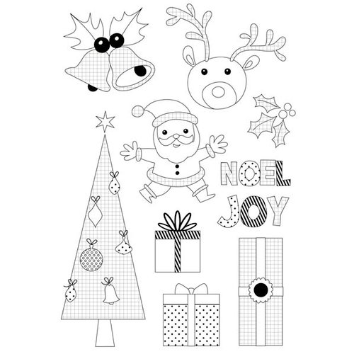 Kaisercraft - Mint Twist Collection - Christmas - Clear Acrylic Stamp