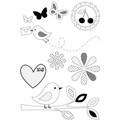 Kaisercraft - Butterfly Kisses Collection - Clear Acrylic Stamp
