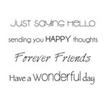 Kaisercraft - Clear Acrylic Stamps - Mini - Friends