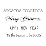 Kaisercraft - Clear Acrylic Stamps - Mini - Christmas